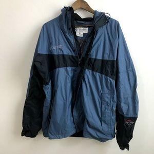 Columbia Omni Tech Waterproof Jacket L - Blue